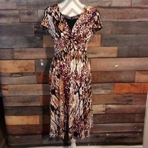 AA Studio AA Leopard Print Dress Size 14 W